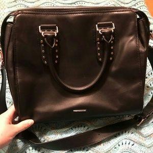 Rebecca minkoff black midnighter satchel
